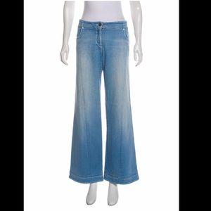 CHANEL wide leg jeans